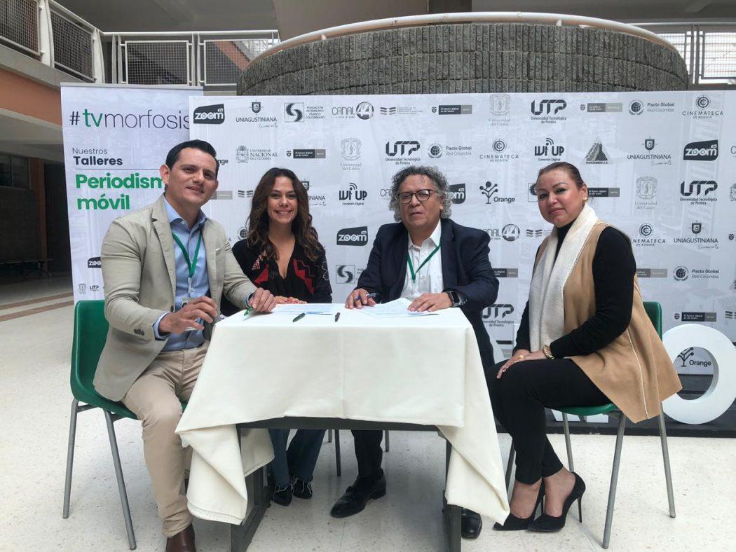 CINEMATECA NACIONAL Y CANAL ZOOM DE COLOMBIA FIRMAN CONVENIO DE DESARROLLO DE COPRODUCCION E INTERCAMBIO DE MATERIALES AUDIOVISUALES EDUCATIVOS Y CULTURALEES